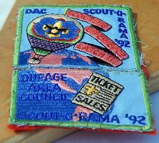 Vintage BSA Patch DuPage Area Counncil Scout-O-Rama 1992 Catch it & Ticket Sales