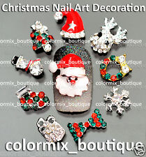 NEW Nail Art Tips Decoration 3D Christmas Alloy Jewelry Glitter Rhinestone#XM_01