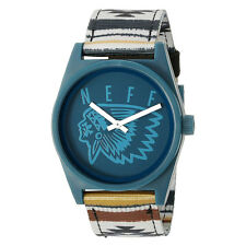 Neff Men's Camp Daily Woven Watch Blue skate streetwear accessories wrist watch