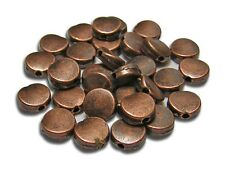 7mm Antique Copper Disc Beads 8-inch Strand approx 31 #2531