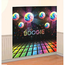 Disco Fever Let's BOOGIE Scene Setters, 70s Themed Party Wall Decorating Kit~2pc