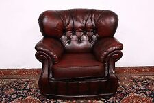 Poltrona Chester red / bordeaux, pelle / inglese / armchair / leather / original