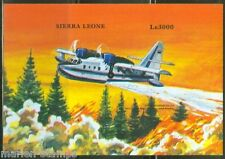 SIERRA  LEONE  IMPERF AIRPLANNES CANADAIR CL-215  S/S SC#2176  MINT NH