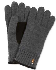 $150 POLO RALPH LAUREN MEN'S GRAY LEATHER PATCH  WOOL WARM WINTER GLOVES SIZE M