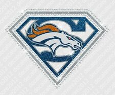 "NFL - ""Super"" Denver Broncos  Bling  Iron-on Glitter Vinyl & Rhinestone Transfer"