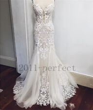 2016 Lace Wedding Dresses White Pure Mermaid Custom Lace Hot Sale Bridal Gowns