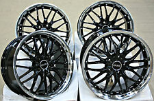 "18"" CRUIZE 190 BLACK & POLISHED DEEP DISH ALLOY WHEELS 5X110 18 INCH ALLOYS"