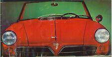 Vintage 1960s  Sales Booklet for NSU Spider Sports Car Original Wankler Engine