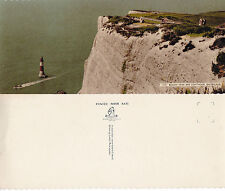 1980's BEACHY HEAD & LIGHTHOUSE EASTBOURNE SUSSEX OVERSIZED PANORAMIC POSTCARD