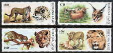 BURKINA FASO 1996 WILD CATS - MINT COMPLETE SET OF FOUR