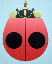 Charlie/ Charley Harper- Brass Christmas Ornament - LADYBUG - fun insect art