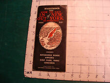 Vintage HAGSTROM'S Map How to get IN and OUT of NEW YORK by Automobile