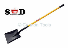 "58"" 1480mm Shovel Square Fibreglass Handle Rubber Grip Garden Hand Tool CT1149"