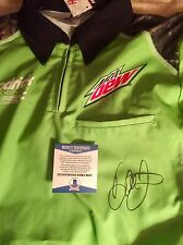 Dale Earnhardt Jr. Autographed signed race used Crew Shirt Beckett COA