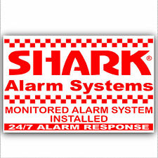1 x control de alarma sistema sticker-shark design-external signo de seguridad - 130 Mm