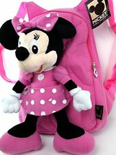 New Plush baby Mickey Minnie Mouse doll Backpack bag tote pink free P & P