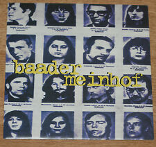 """BAADER MEINHOF MEET ME AT THE AIRPORT 1995 UK 7"""" VC RECORDS LTD FLAT24"""