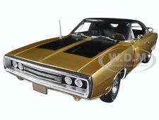 1970 DODGE CHARGER R/T FY4 LIGHT GOLD 50TH ANNIVERSARY 1/18 BY AUTOWORLD AMM1077