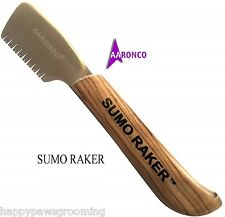 Genuine AARONCO Sam Kohl SUMO RAKER KNIFE DOG Stripping Knives Grooming Carding