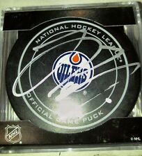 JESSE PULJUJARVI signed OILERS official game puck
