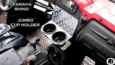 Yamaha Rhino 2 JUMBO Cups Drink Holder Diamond plate golf cart,boat holds a YETI