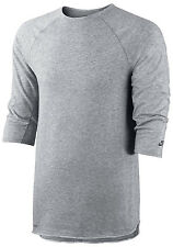 New NIKE DRIFIT Shirt Size XL/ SB SKYLINE DFC 3/4 CREWNECK – GREY/Sport/Gym