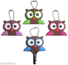 4 Owl Key Covers / Key Caps / Key Chains - Car Accessories Set