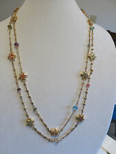 "KIRKS FOLLY  GOLD 58"" STAR STRUCK NECKLACE NIB"