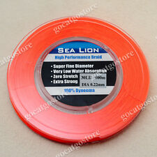 NEW Sea Lion 100% Dyneema Spectra Braid Fishing Line 500M 30lb Orange