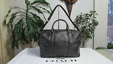 NWT Coach Leather Voyager Sport Calf Duffle Travel Bag F54765 Black