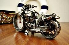 Xmas Harley Dividson Style Motor Bike Alarm QUARTZ Clock Grey Novelty Gift