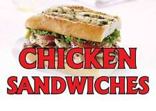 """CHICKEN SANDWICHES 14""""x10"""" STORE RETAIL FOOD COUNTER/WALL SIGN"""