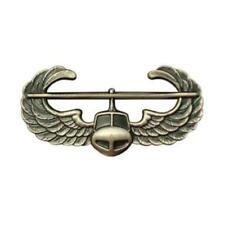 USA Army Badge Regulation Size Air Assault Silver Oxidized (Army Issue)
