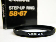 Genuine Canon 58-67 STEP-UP RING For Minolta Canon Nikon or Pentax Nice!