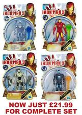 Film di Iron Man 3 ALL-STAR Action Figures Wave 1-COMPLETA 4 Figure Set-NUOVI