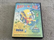 SEGA MASTER SYSTEM GAME WITH BOX - BART VS THE WORLD SIMPSONS - FREE POST