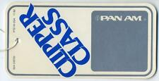 Clipper Class ~PAN AM / PAN AMERICAN AIRWAYS~ Great Vintage Airline Luggage Tag