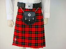 Scottish | Wallace Tartan Heavy Kilt & Kilt Pin | Geoffrey