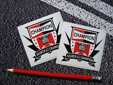 2X Champion spark plug search for a champion stickers f1 superbikes subaru rally