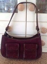 GORGEOUS COLE HAAN BURGUNDY & BROWN SHOULDER BAG USED LIGHT SIGNS OF USE