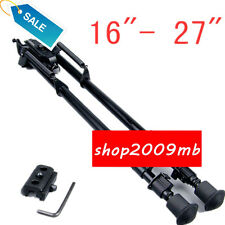 "Metal Adjustable 16""- 27"" Spring Return Legs Bipod For Rifle Hunting W/adapter"