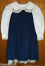 Lavender Blue Outfit Dress & Jumper/Pinafore sz 4 $86 Navy/cream NEW w/tag