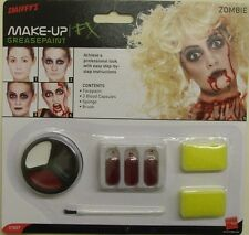 Halloween Fancy Dress Zombie Make Up Set Face Paint Blood Sponges by Smiffys