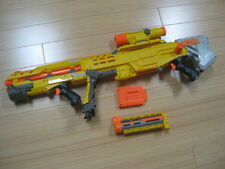 NERF N-STRIKE LONG SHOT CS-6 ASSAULT RIFLE ACTION BLASTER GUN USED TESTED WORKS