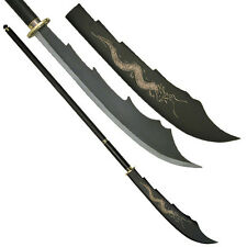 Double Bladed Fantasy Oriental Naginata Sword Separates to Make 2 Swords #054BK