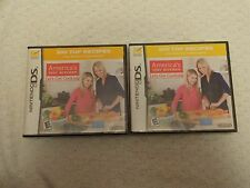 America's Test Kitchen: Let's Get Cooking Nintendo DS Video Game Lot of 2
