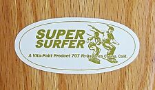 VINTAGE 60'S HOBIE SUPER SURFER SKATEBOARD STICKER, NEW VINYL
