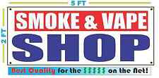 SMOKE & VAPE SHOP Banner RW&B Sign NEW XXL Size Best Quality for the $$$$