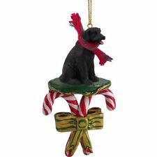 Labrador Retriever Black Lab Dog Candy Cane Christmas Tree ORNAMENT