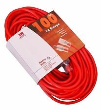 100-Ft Extension Cord 14 Gauge Lit End UL NEW 14/3 100 Foot Feet